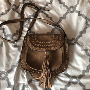 Handbags - Brown tassel cross body bag